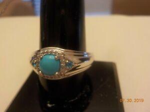 A gorgeous Sleeping Beauty Men's ring, Sz. 10