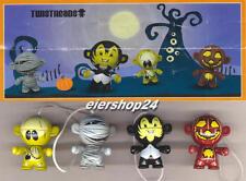 Kompletter Satz Twistheads SPOOKY SPECIES Halloween 2014 inkl. aller BPZ
