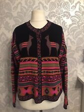 River island cardigan top button front black mult tribal hippie boho festival G