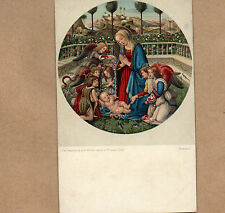 Art Card 1900's Misch and Co 1124 The Madonna & child Fillipo Lippi Florence BR2