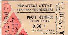 Français Billet D'Entrée (Staatsministerium Kulturelle Angelegenheit) (G4272)