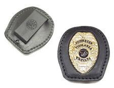 Porta placca Vega Holster in cuoio da cintura tasca 1WA48 sicurezza vigilanza
