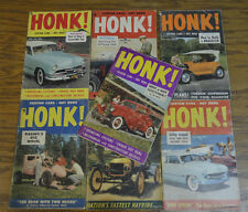 HONK #1-7 1953 HOT ROD CUSTOM FLATHEAD SCTA BONNEVILLE 32 FORD CAR CRAFT LOT VTG