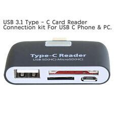 Memoria Micro SD Lector de Tarjetas USB C 3.1 tipo C a Usb 3.0 Adaptador Otg Hub A +