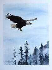 Sue Coleman Hand Signed Numbered Limited Edition Eagle's Cry 1989