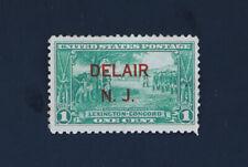 1c Washington at Cambridge 1925 US Scott #617 Red Delair N.J. Overprint Mint HR
