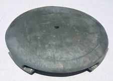 "NEW- Old Stock Unfinished Zinc Cast Metal 10"" Floor Lamp Base part"
