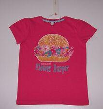 "Esprit T-shirt pink ""Flower Burger"" Gr. 128/134 *NEU mit Etikett*"