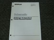 Caterpillar Cat 75 Challenger Tractor Electrical System Wiring Diagram Manual