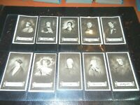 Tobacco Card Set,Sarony,CELEBRITIES AND THEIR AUTOGRAPHS,Signed,Signiture,1923