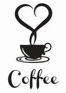 Sticker Kitchen Wall Tattoo Coffee Coffee TILE STICKER