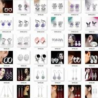 925 STERLING SILVER fashion jewelry Earrings hook Earplugs Wedding gifts