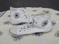 Basket montante cuir blanc CONVERSE 39 uk5,5 us8 wo's ALL STAR semelle fine