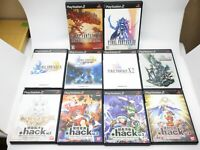 Final Fantasy .hack Square Enix RPG Role Playing Game set PS2 PlayStation2 Japan