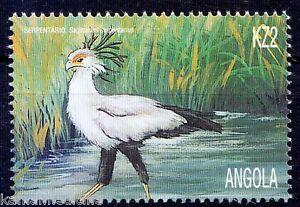 Angola 2000 MNH, Secretarybird, Birds