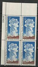#1453 1972 8-cent Old Faithful Yellowstone block of 4 MNH