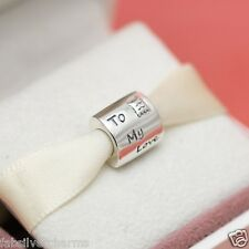 *Authentic Pandora Love Letter 790894EN09 Valentines Day  Charm w Gift Pouch