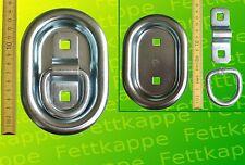 6 x Zurringe Oval 145 x100 mm 800 daN - verzinkt - Zurrmulden - Einbaumulden