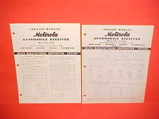 1940 CHRYSLER IMPERIAL DESOTO DODGE CAR PLYMOUTH MOTOROLA RADIO SERVICE MANUAL