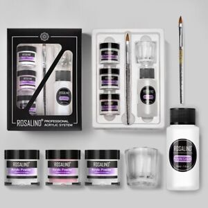 Nail Art Extensions Manicure Tools Acrylic Powder Set Nail Kit 3 Colors Carving