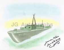 James Earl Files - JFK Grassy Knoll Shooter - Original PT109 Signed Drawing