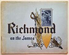 1905 Antique Richmond Virginia Photobook Travel Guide James River Confederacy