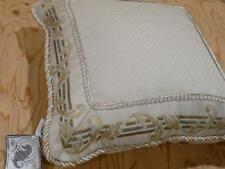 Waterford Linens Gorgeous Caulfield Platinum 18 x 18 Pillow