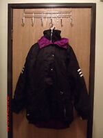 Women's Obermeyer gore tex  pullover  hooded  black ski jacket  size 10