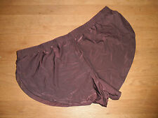 Men's Large Sexy Brown Brushed Soft Nylon Split Side Shorts Lingerie Gay UK