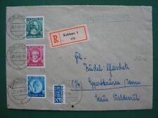 F-Zone Rheinland Pfalz 1949 MiNr 46-48 auf R-Brief ++ MISCHFRANKATUR ++ (F081)