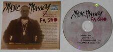 Majic Massey  Fa Sho x4  U.S. promo cd  - Rare!