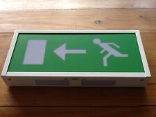 Gent Self Contained Emergency Fire Exit Box Light Non Maintained New Left Sign