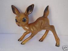 Vintage Hard Plastic Fawn Deer Reindeer