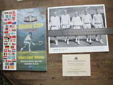 Davis Cup 1963 Challenge Round, Australia v Usa - Signed by 10 Tennis Players