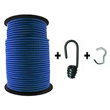 100m Expanderseil ø 6mm blau +100 Spiralhaken +Klemmen