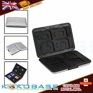 Memory Card Storage Box Case Holder with 8 Slots for SD SDHC MMC Micro SD Cards