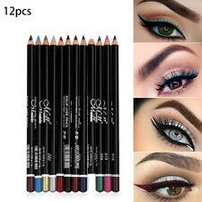 12 Colors Cosmetics Makeup Pen Waterproof Eyebrow Eye Liner Lip Eyeliner Pencil