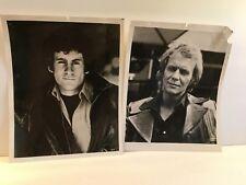 "PAUL MICHAEL GLASER & DAVID SOUL ""Starsky & Hutch"" actors set of 2 B&W 8x10s"