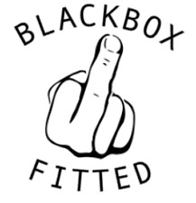 Blackbox Fitted Funny Car Sticker Decal MIDDLE FINGER 200mm