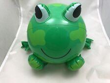 "10"" Inflatable Frog Beach Ball Dark Or Light Green Cute Frog Blow Up Ball"