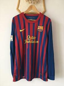 FC BARCELONA 2011 2012 HOME FOOTBALL SOCCER SHIRT JERSEY LONG SLEEVE NIKE CAMISA