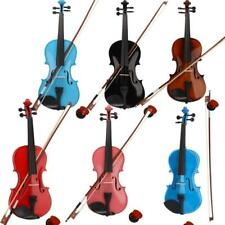 More details for christmas gift 4/4 students acoustic violin set with case bow rosin bridge