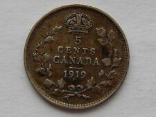 1919 Canada 5 Cents Coin   SB5919