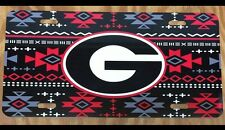 Georgia Bulldogs License Plate Metal Aztec G Tag UGA