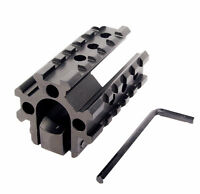 See-Throug Tri- Rail 20mm Picatinny Weaver Rail Base Barrel Mount for Rifle