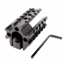 See-Throug Tri- Rail 20mm Picatinny Weaver Rail Base Barrel Mount for Rifle
