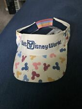 New listing Walt Disney World Mickey Mouse Balloons Adult Visor Hat by Junk Food Nwt