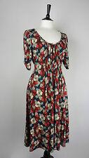 - East New Dress Size 12 Viscose Jersey Blue Beige Red
