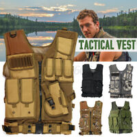 Military Tactical Vest Adjustable Molle Combat Plate Holder Army Airsoft Assault