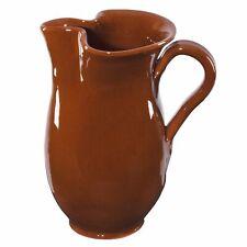 1L Tonkrug rot-braun glasiert Wein-Krug rustikal antike Kanne für Sangria